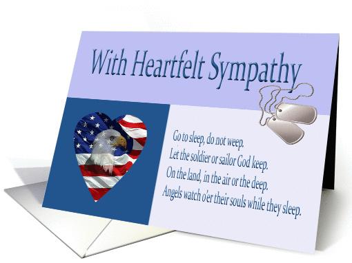 Military Sympathy Condolence Card 992631