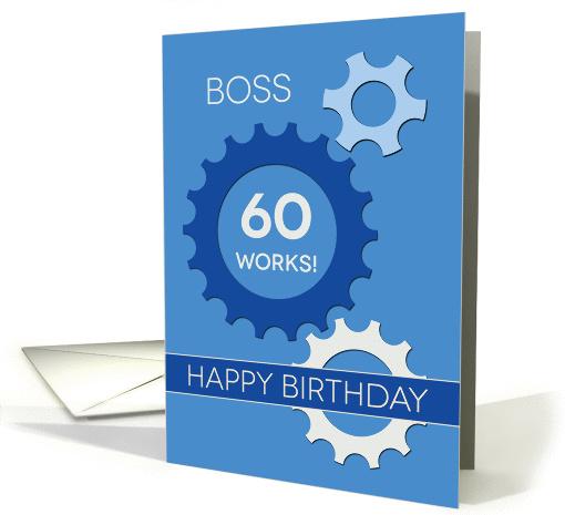 Boss 60th Birthday 60 Works Happy Birthday Best Wishes