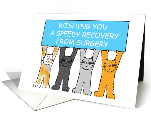Speedy Recovery From Surgery Cats Card 1323670