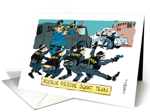 Funny Congrats For Police Academy Acceptance Cartoon Card
