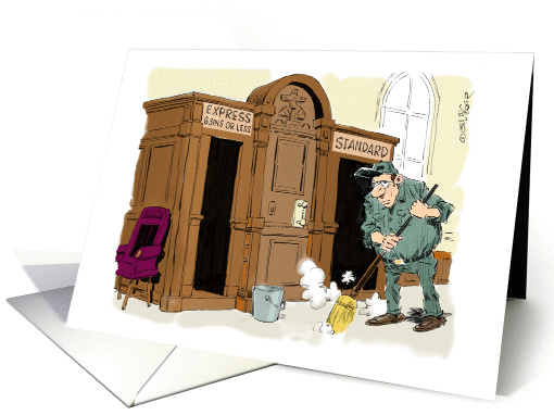 Funny Priests Birthday Card 1402602