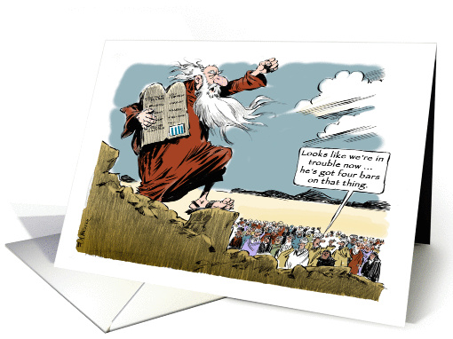 Funny Moses Amp Happy Birthday Wishes For Pastorpriest Cartoon Card