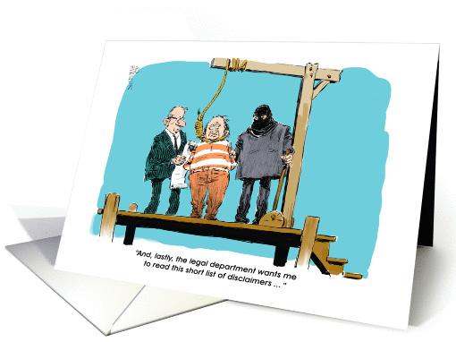 Funny Gallows Humor Happy Lawyer Birthday Cartoon Card