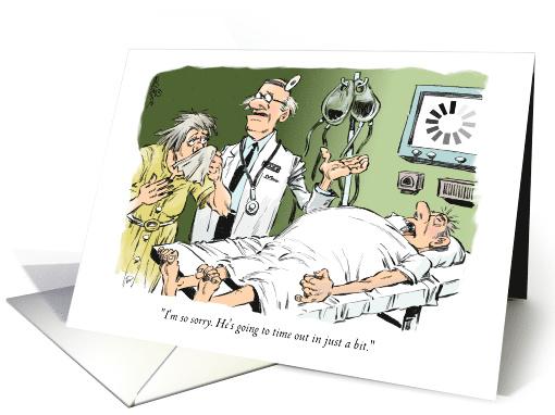 Amusing Knee Surgery Feel Better Doctor Amp Patient Cartoon Card