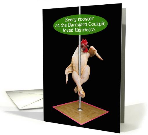 Chicken Pole Dancer Barnyard Cockpit Funny Valentines Day