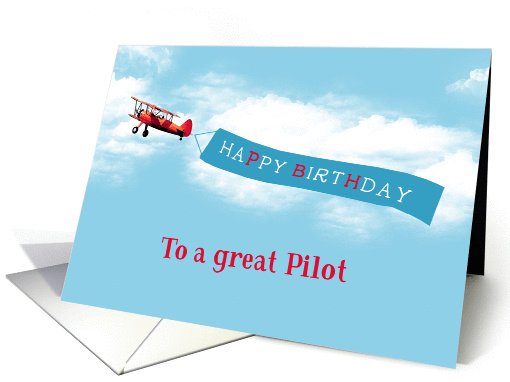Happy Birthday To A Great Pilot Vintage Airplane Sky