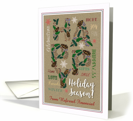 Happy Holidays Generic Holiday Season Wishes For Clients Card