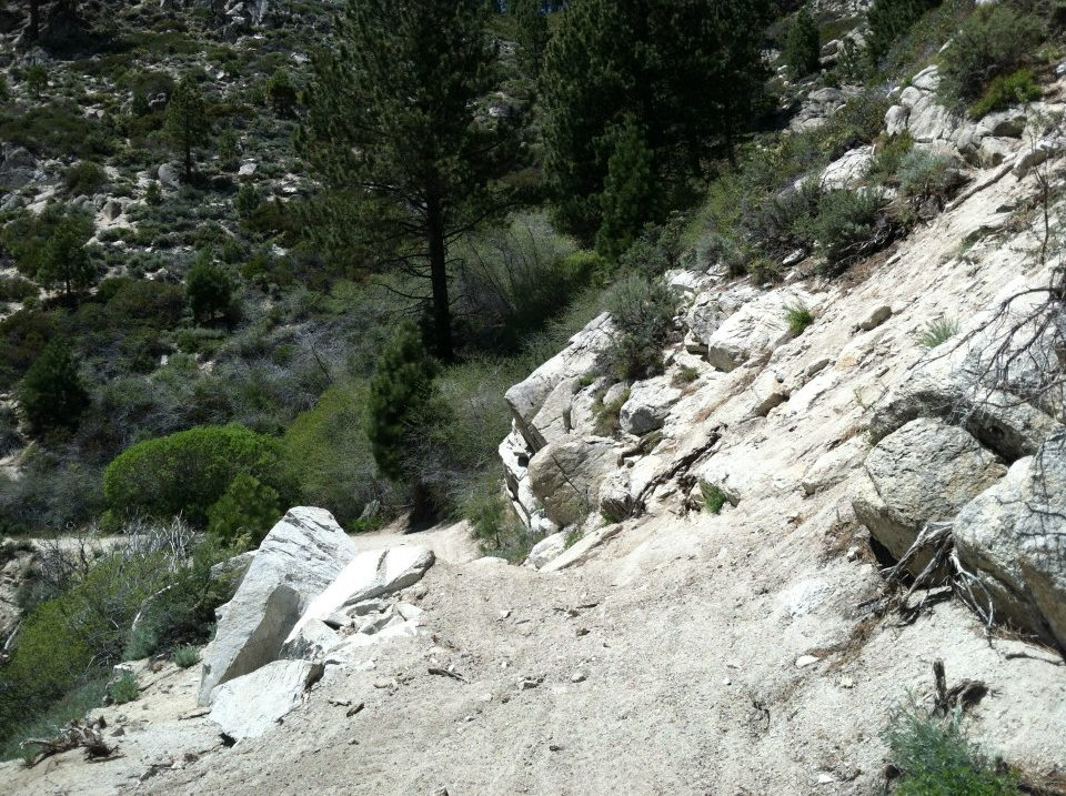 Rock Slide on Kings Canyon Rd
