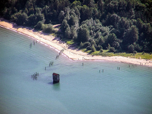 Aerial View of the Sandy Beach Pump House Photo by Kenneth Gill