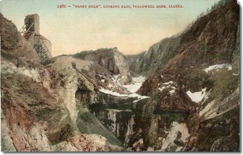 """""""Glory Hole"""" Looking East, Treadwell Mine, Alaska"""