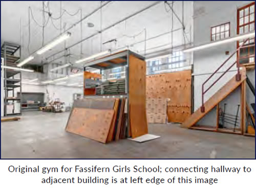 Inside the old Fassifern Gym from Whitney Commercial Real Estate Services sales flyer