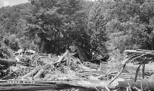 Flood Debris Photo from TVA
