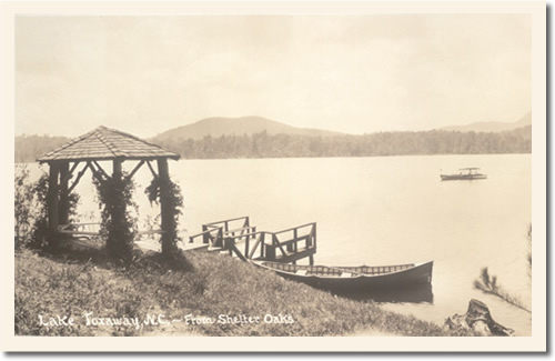 Lake Toxaway from Shelter Oaks - 1911 Photo of Lake Toxaway from Shelter Oaks Photo from the Library of Congress