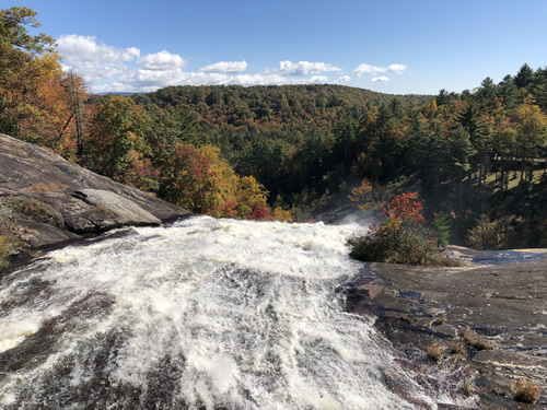 Toxaway Falls is between Brevard and Cashiers