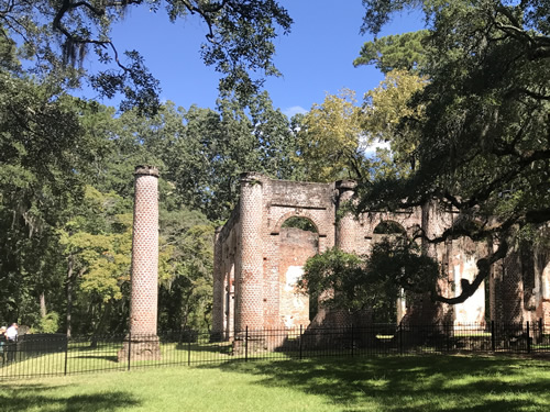 Front of Old Sheldon Church Ruins