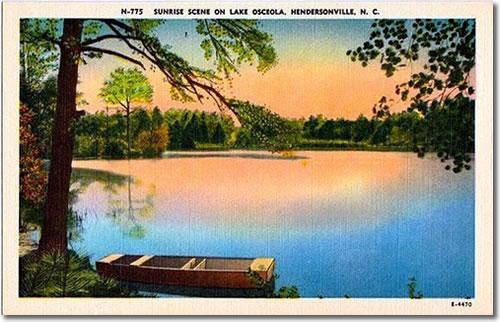 Sunrise Scene on Lake Osceola, Hendersonville N.C.