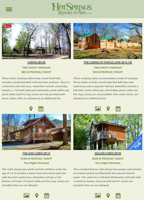 Cabins at Hot Springs Resort and Spas