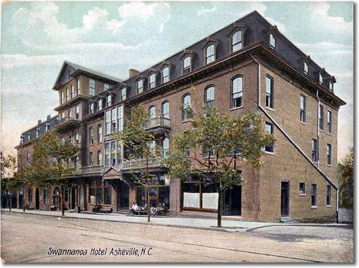Swannanoa Hotel on Main Street, Asheville in 1907