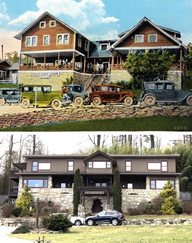 Indian Cave Lodge in '20s Indian Cave Lodge Now