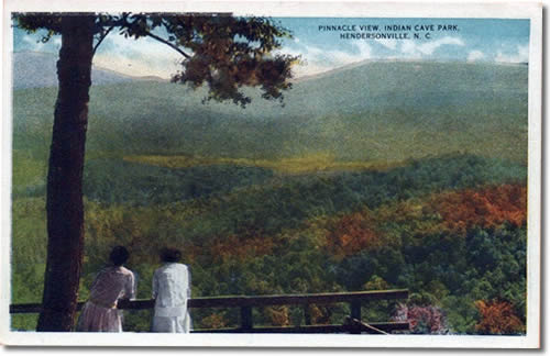Old Postcard of the view from Indian Cave Lodge