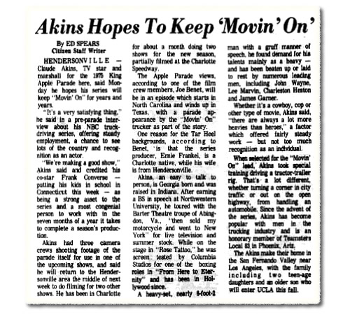 Atkins Hopes To Keep 'Movin' On' Asheville Citizen-Times September 2, 1975