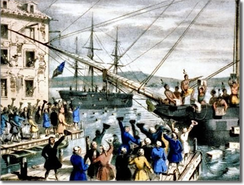 Postcard of the Boston Tea Party