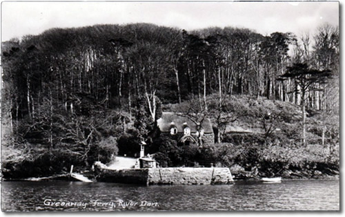 Old Postcard of Greenway Ferry, River Dart, Devon