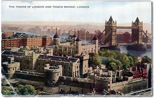 Old Postcard of Tower of London
