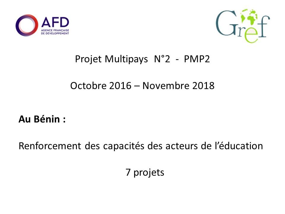Fin du programme multi-pays du GREF au Bénin