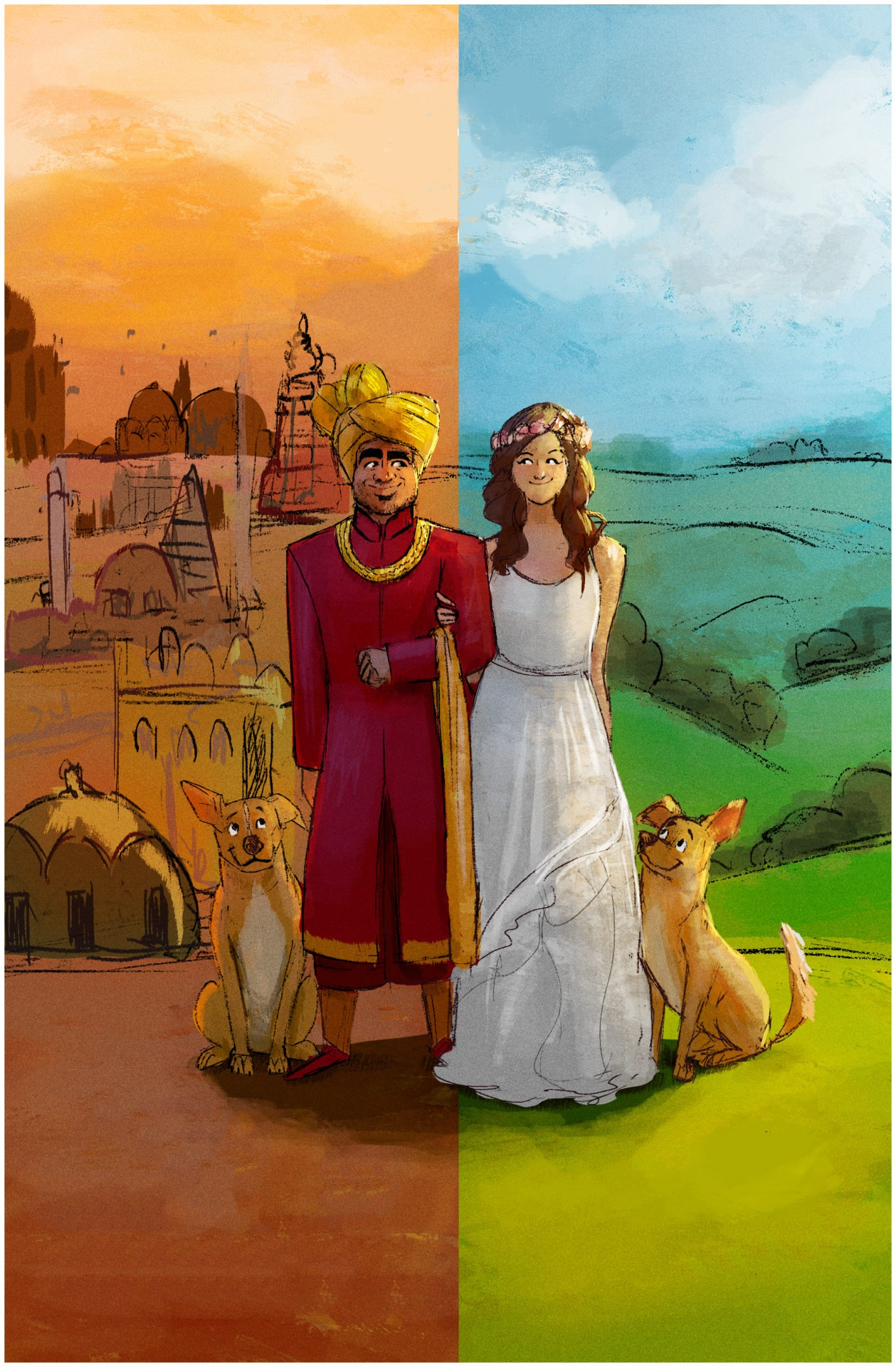 Illustration for my friends Ema and Ani's wedding.