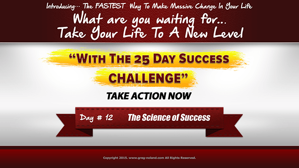 Day 12: The Science of Success