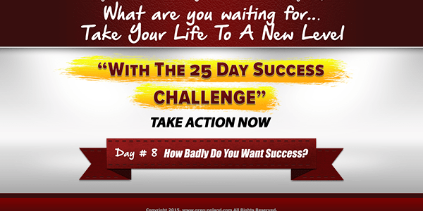how badly do you want success