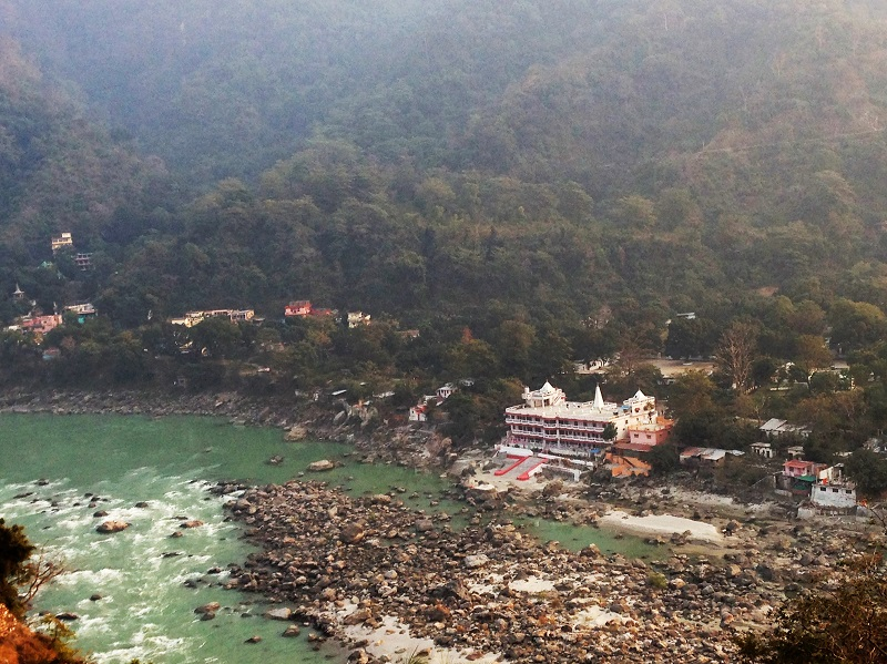 Temple on the Ganges in Rishikesh