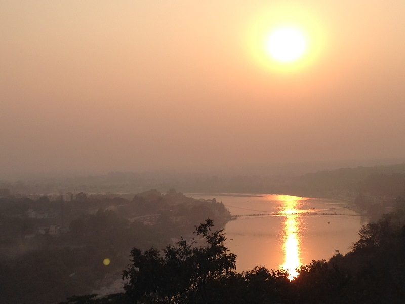Sunset in Rishikesh Valley