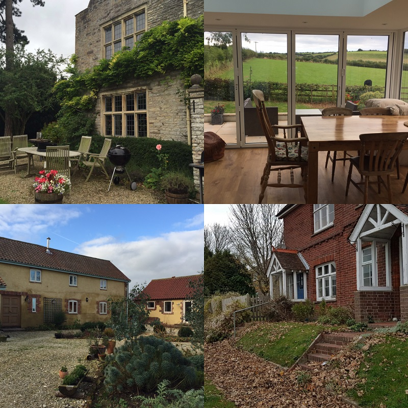 Some of the houses we stayed in on house-sitting assignments