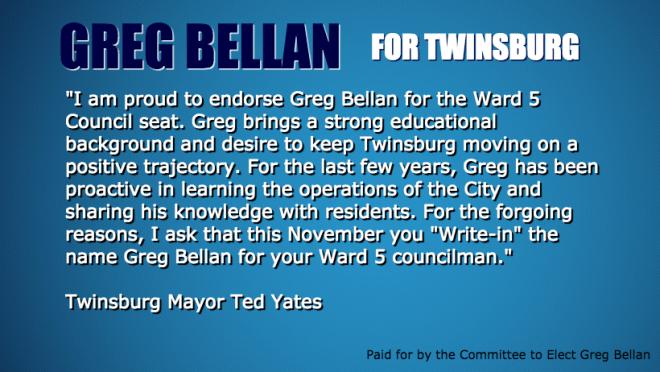 Greg Bellan Ted Yates Endorsement