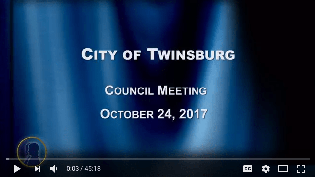 City of Twinsburg Council Meeting - October 24, 2017