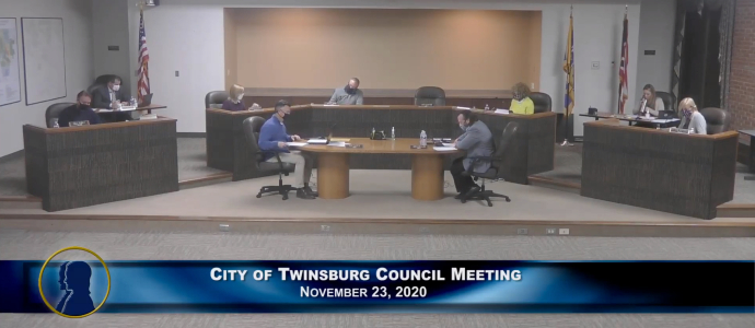 City of Twinsburg Council Meeting - November 24, 2020 690x300