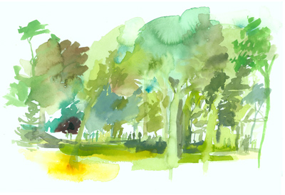Greg Betza_Central Park Watercolor