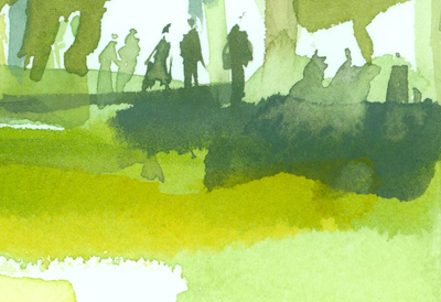 Greg Betza_Central Park Watercolor Detail 2