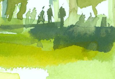 Greg Betza_Central Park Watercolor Detail 2