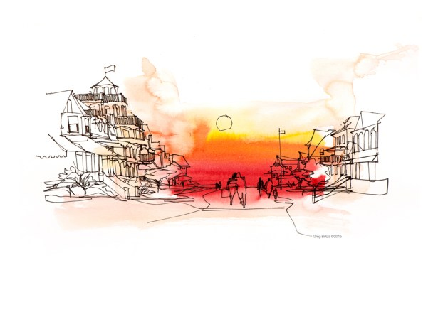editorital reportage drawing by Greg Betza
