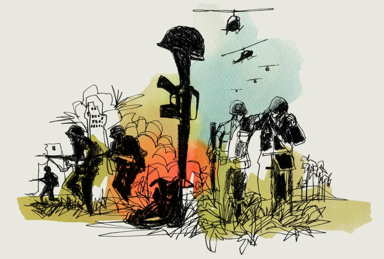 the vietnam war-greg betza illustration
