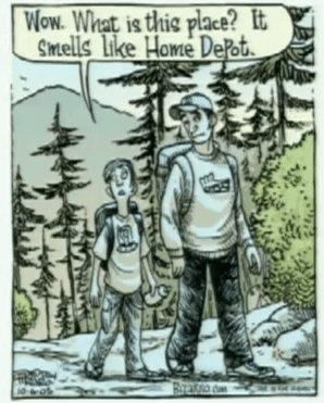 smells like home depot