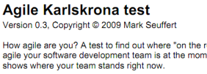 A snip of the Agile Karlskrona Test