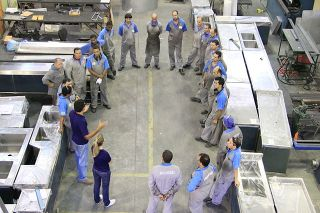 Training meeting in a ecodesign stainless steel company in Brazil.