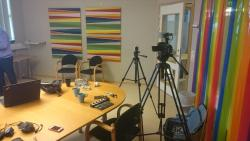 The room has been setup for recording session 3.