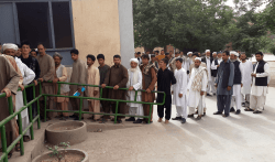 Voters queuing in western Herat
