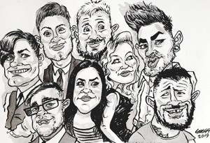 Caricaturist South Wales for parties and functions