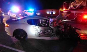 Maserati crash I-15 Utah